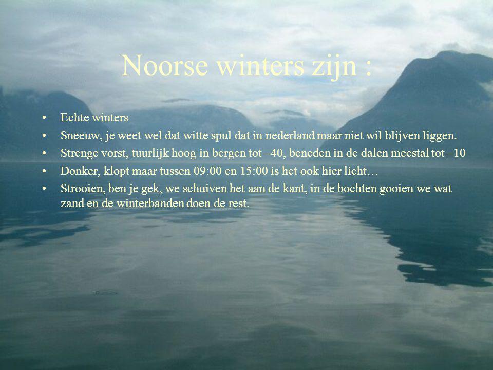 Noorse winters zijn : Echte winters