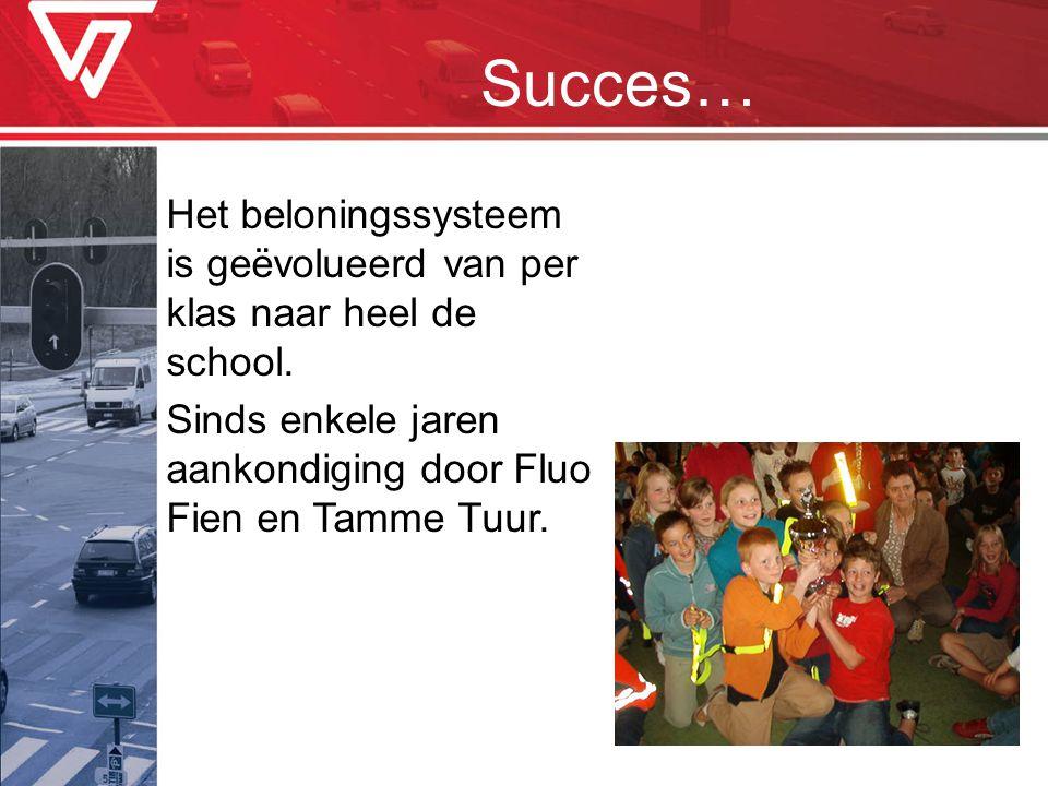 Succes… Het beloningssysteem is geëvolueerd van per klas naar heel de school.