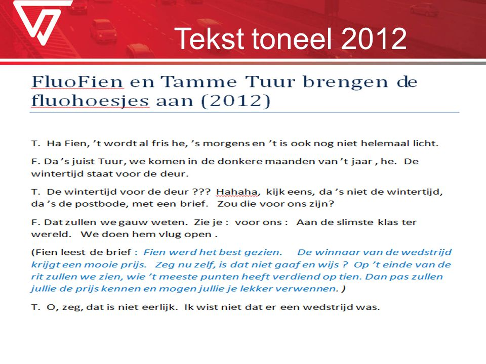 Tekst toneel 2012