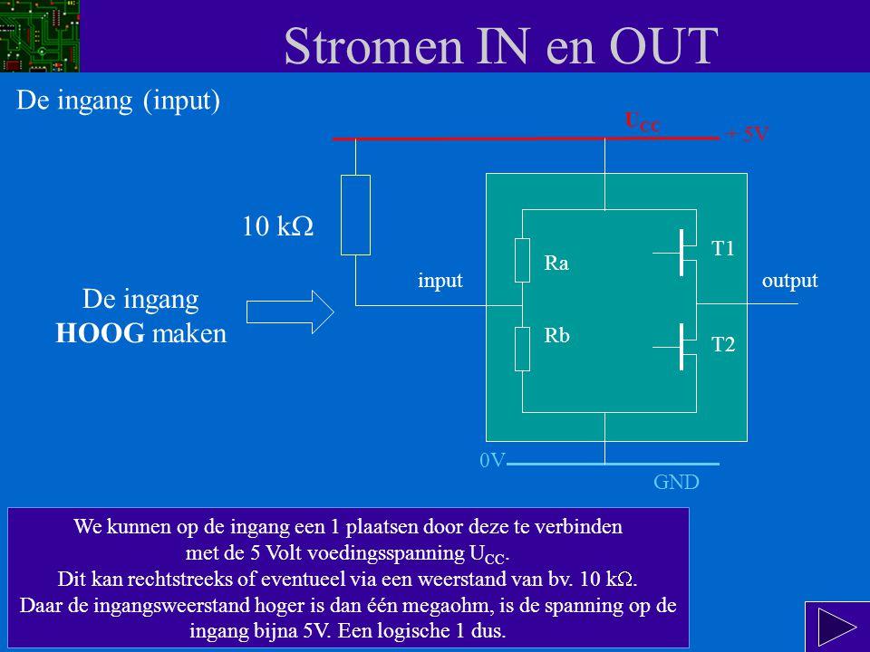 Stromen IN en OUT De ingang (input) 10 kW De ingang HOOG maken UCC