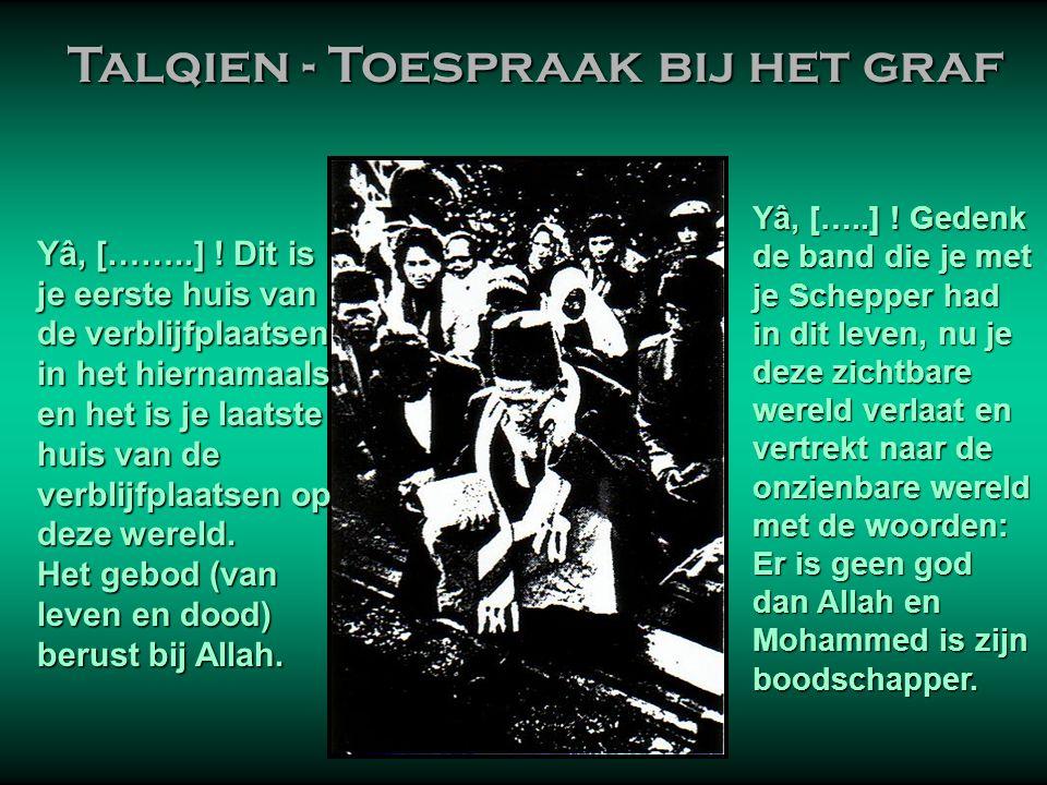 Talqien - Toespraak bij het graf