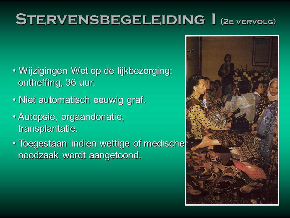 Stervensbegeleiding I (2e vervolg)