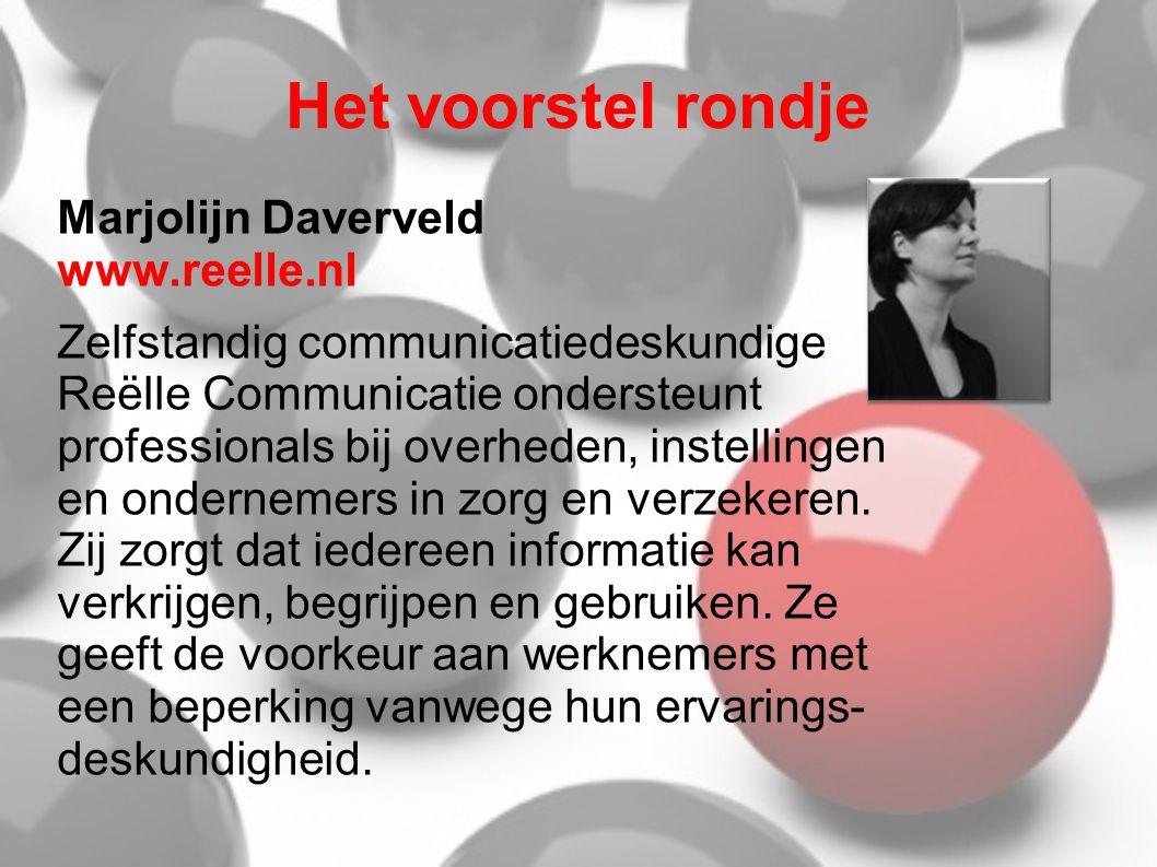 Het voorstel rondje Marjolijn Daverveld www.reelle.nl