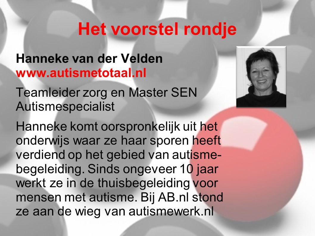Het voorstel rondje Hanneke van der Velden www.autismetotaal.nl