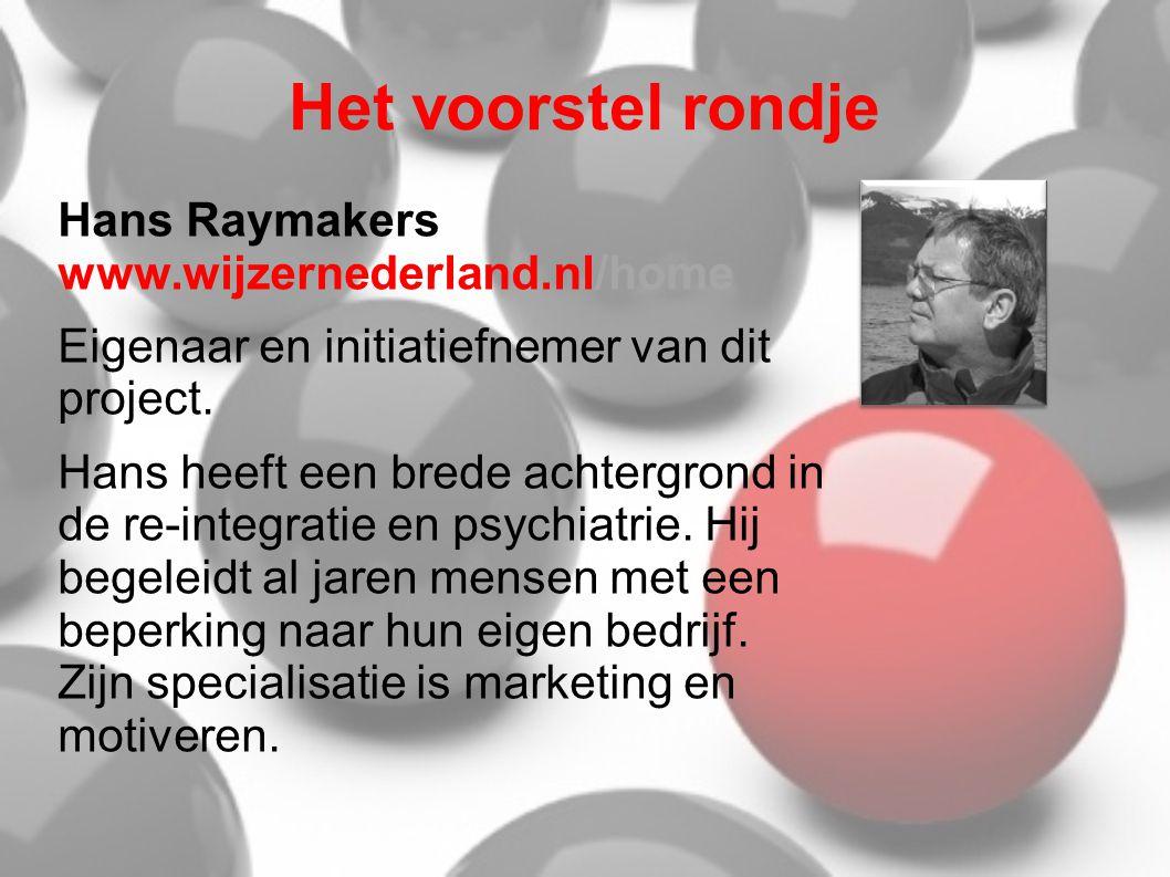 Het voorstel rondje Hans Raymakers www.wijzernederland.nl/home
