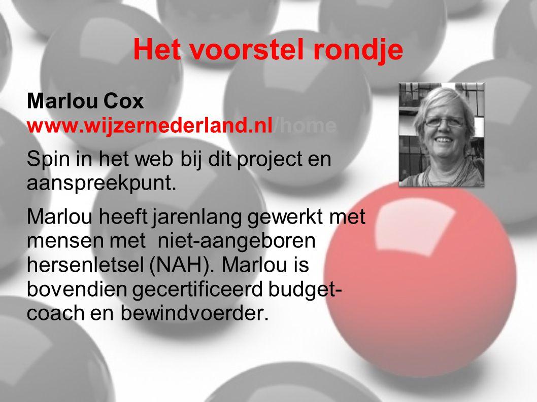 Het voorstel rondje Marlou Cox www.wijzernederland.nl/home