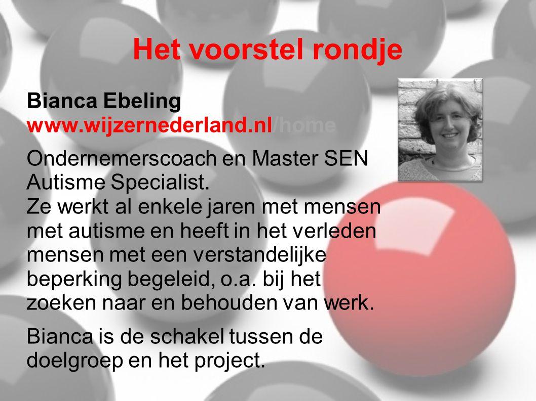 Het voorstel rondje Bianca Ebeling www.wijzernederland.nl/home
