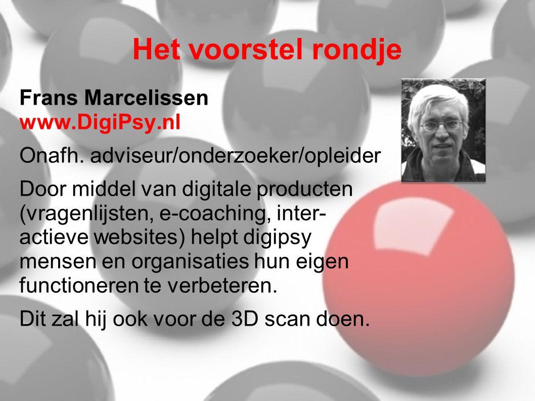 Het voorstel rondje Frans Marcelissen www.DigiPsy.nl