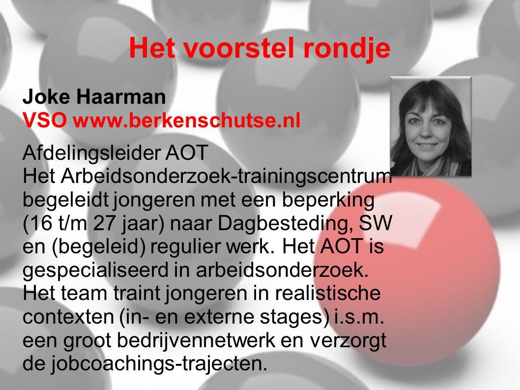 Het voorstel rondje Joke Haarman VSO www.berkenschutse.nl