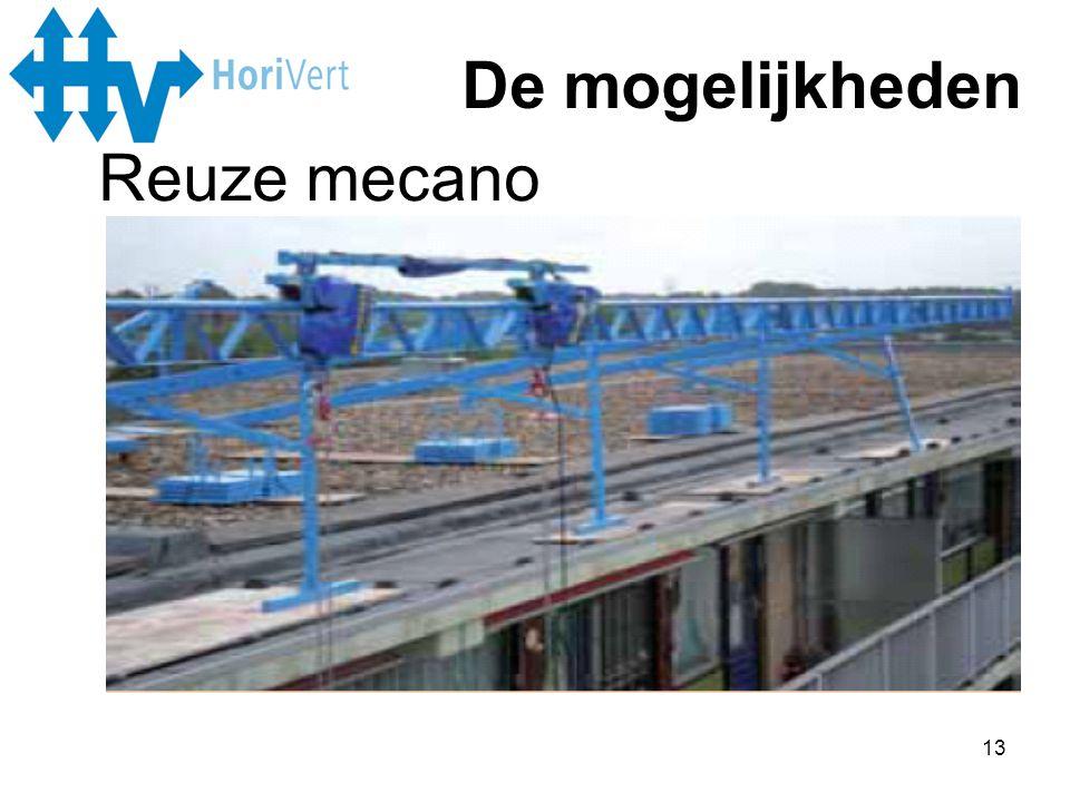 De mogelijkheden Reuze mecano