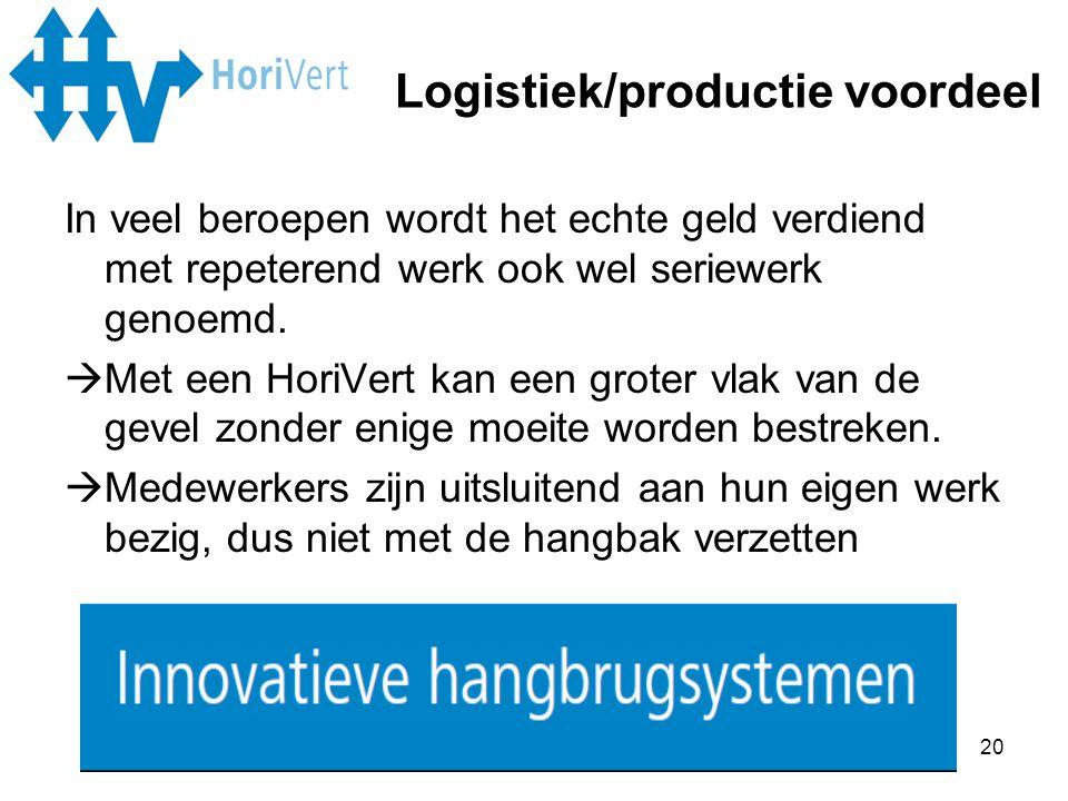 Logistiek/productie voordeel