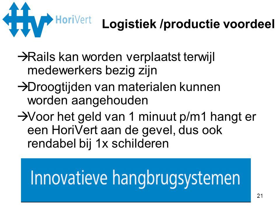Logistiek /productie voordeel