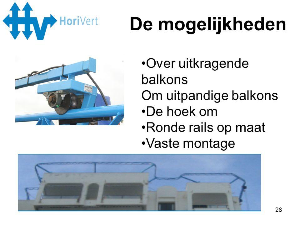 De mogelijkheden Over uitkragende balkons Om uitpandige balkons
