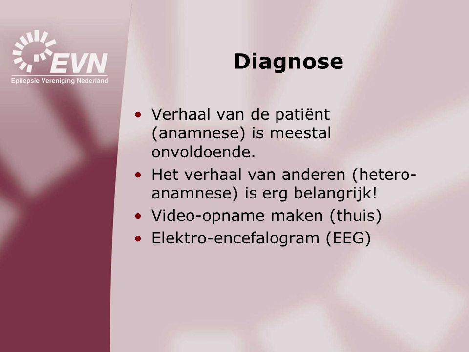 Diagnose Verhaal van de patiënt (anamnese) is meestal onvoldoende.