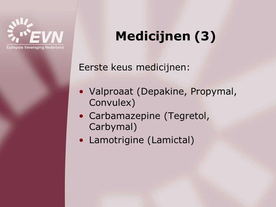 Medicijnen (3) Eerste keus medicijnen: