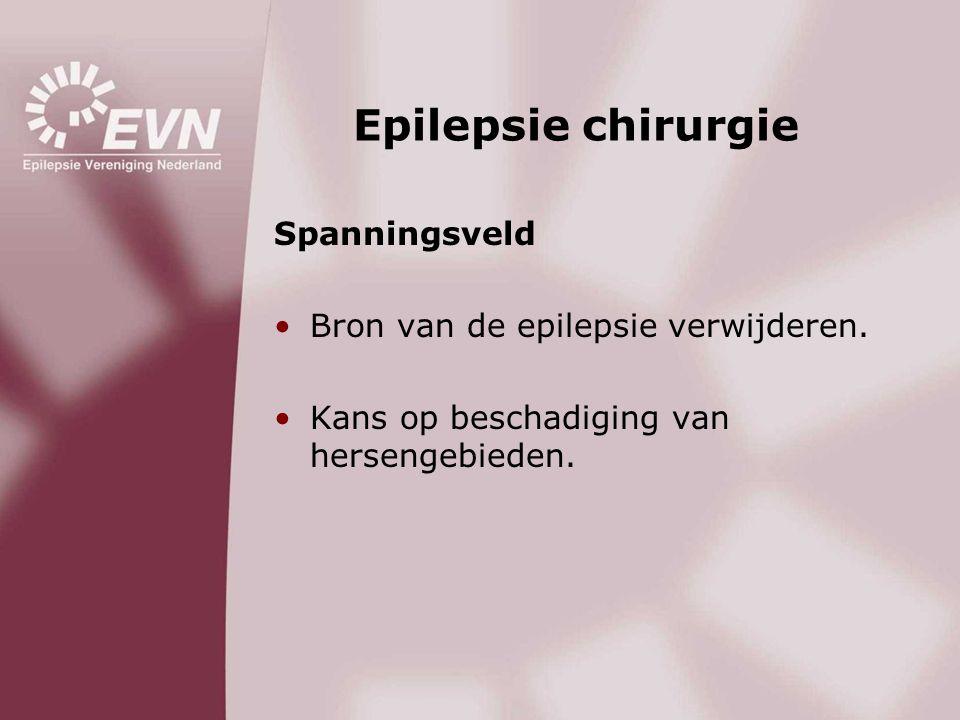 Epilepsie chirurgie Spanningsveld Bron van de epilepsie verwijderen.