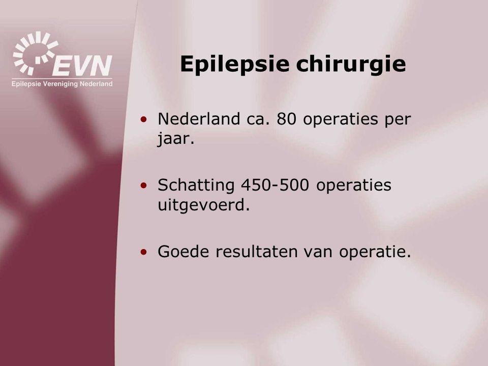 Epilepsie chirurgie Nederland ca. 80 operaties per jaar.