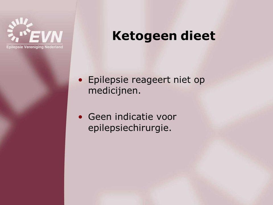 Ketogeen dieet Epilepsie reageert niet op medicijnen.