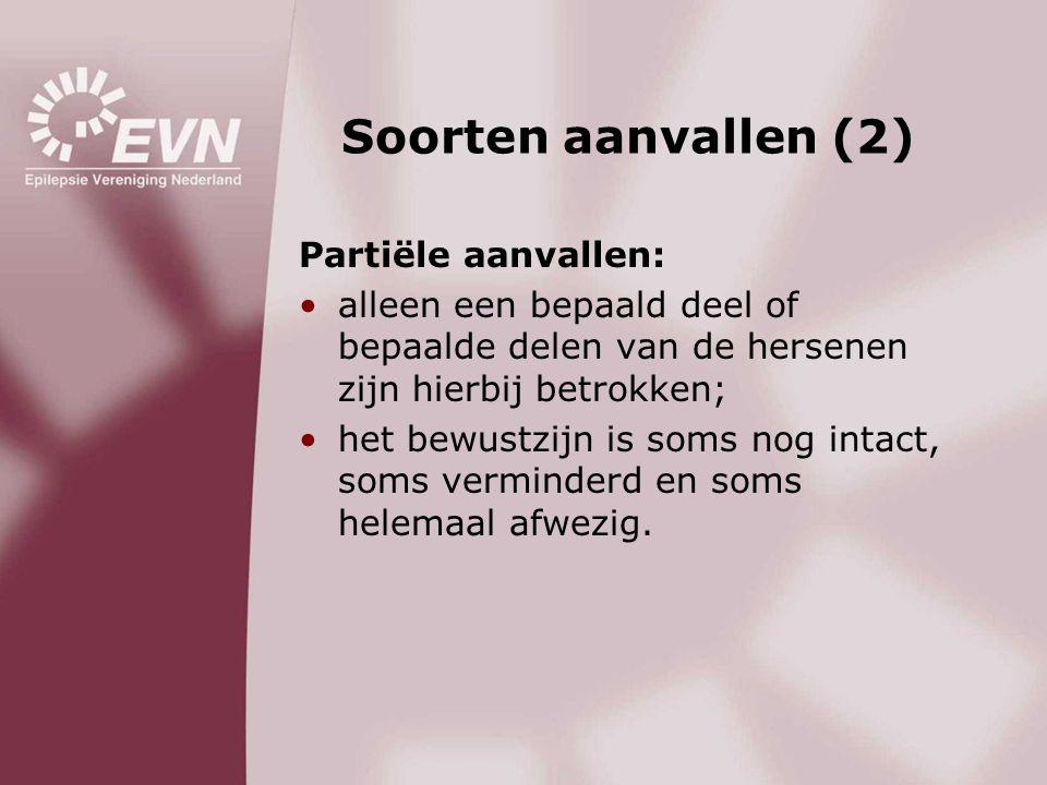 Soorten aanvallen (2) Partiële aanvallen: