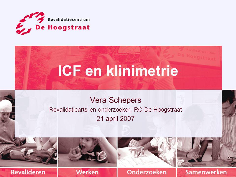 Revalidatiearts en onderzoeker, RC De Hoogstraat