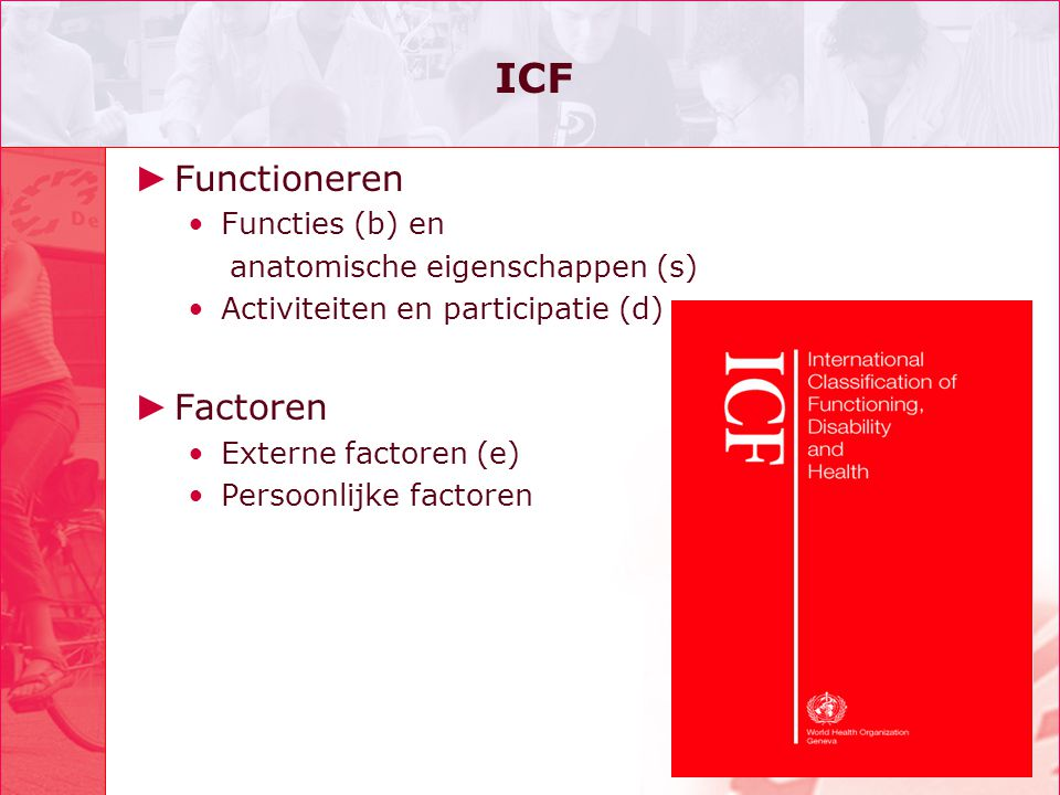 ICF Functioneren Factoren Functies (b) en