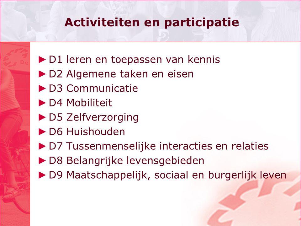 Activiteiten en participatie