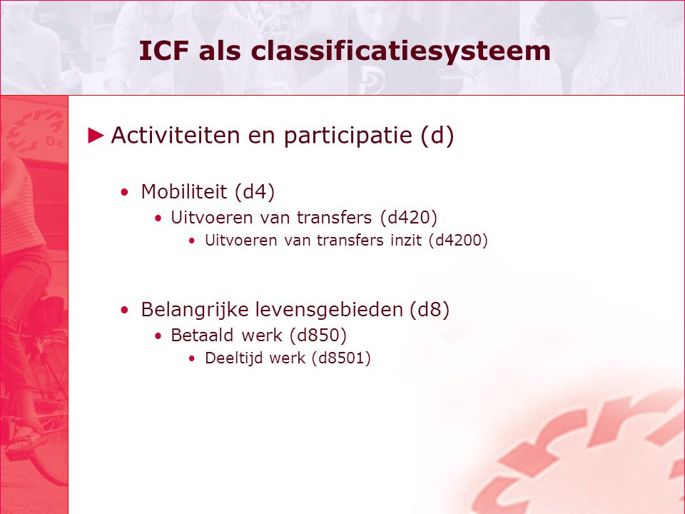 ICF als classificatiesysteem