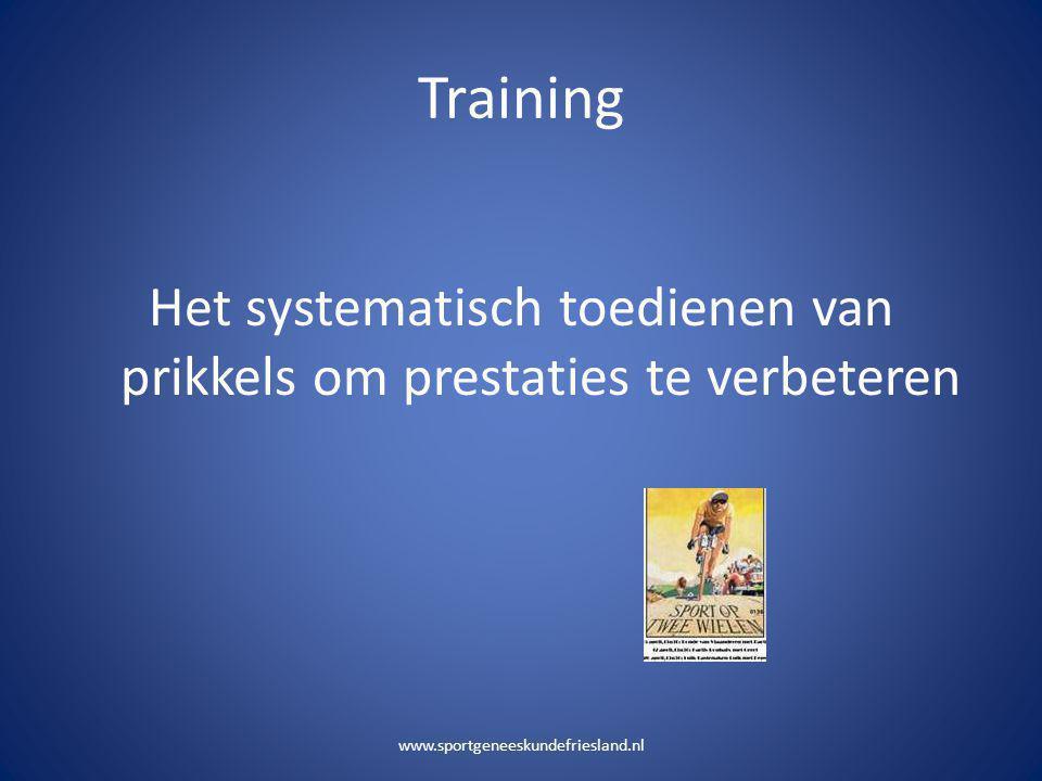 Het systematisch toedienen van prikkels om prestaties te verbeteren