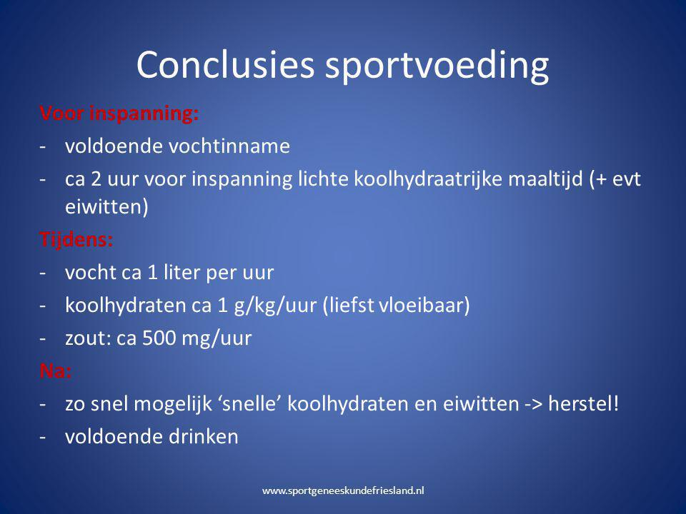 Conclusies sportvoeding