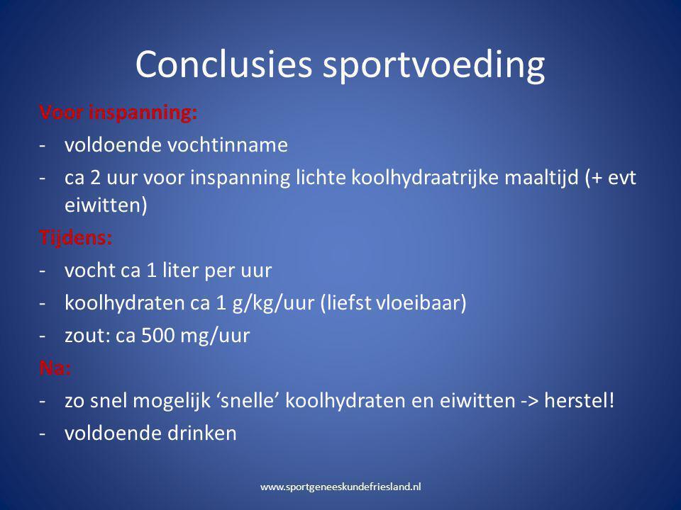 Conclusies sportvoeding