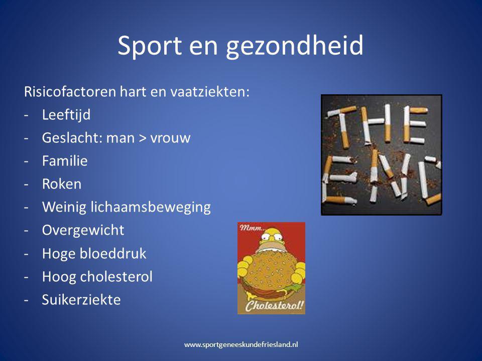 Sport en gezondheid Risicofactoren hart en vaatziekten: Leeftijd