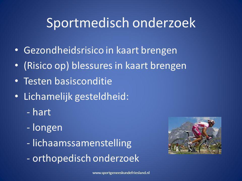 Sportmedisch onderzoek