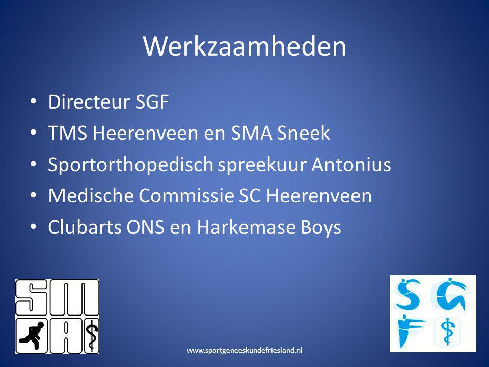 Werkzaamheden Directeur SGF TMS Heerenveen en SMA Sneek