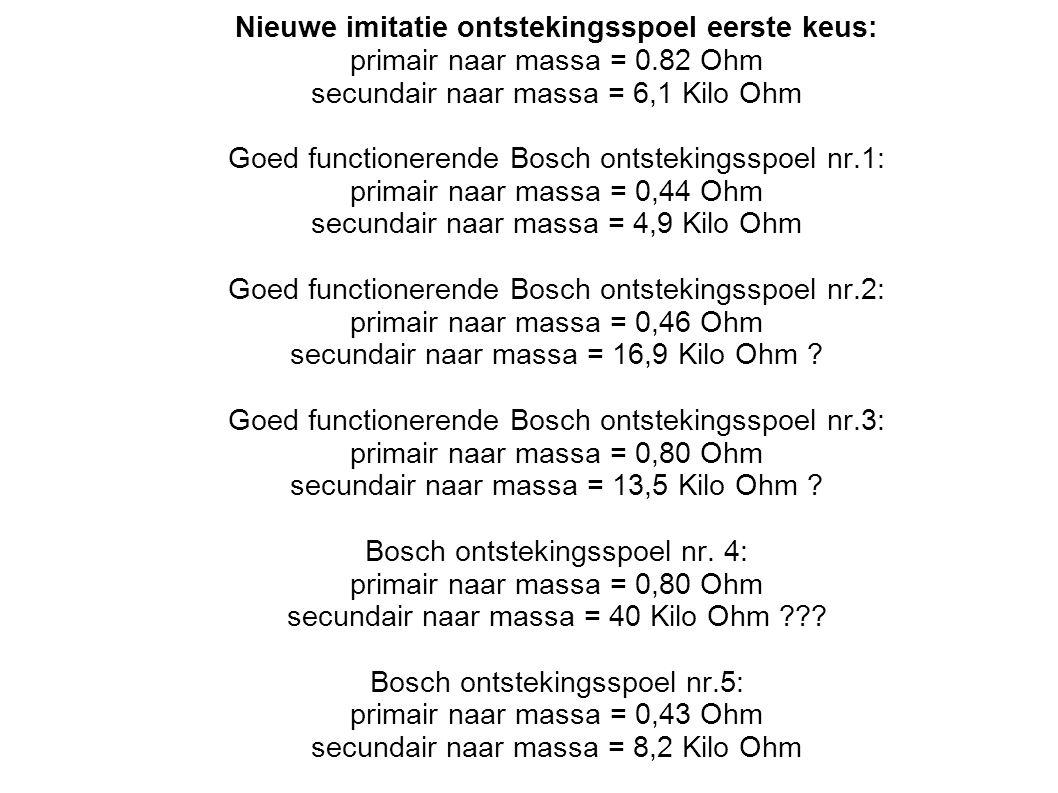 Nieuwe imitatie ontstekingsspoel eerste keus: primair naar massa = 0