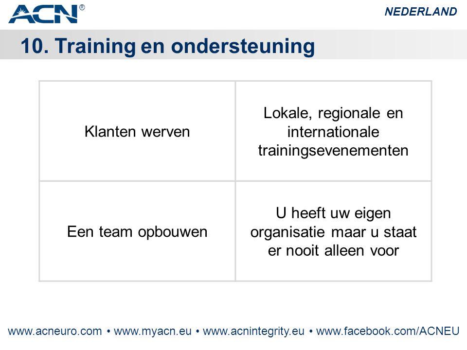 10. Training en ondersteuning
