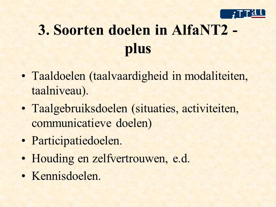 3. Soorten doelen in AlfaNT2 - plus