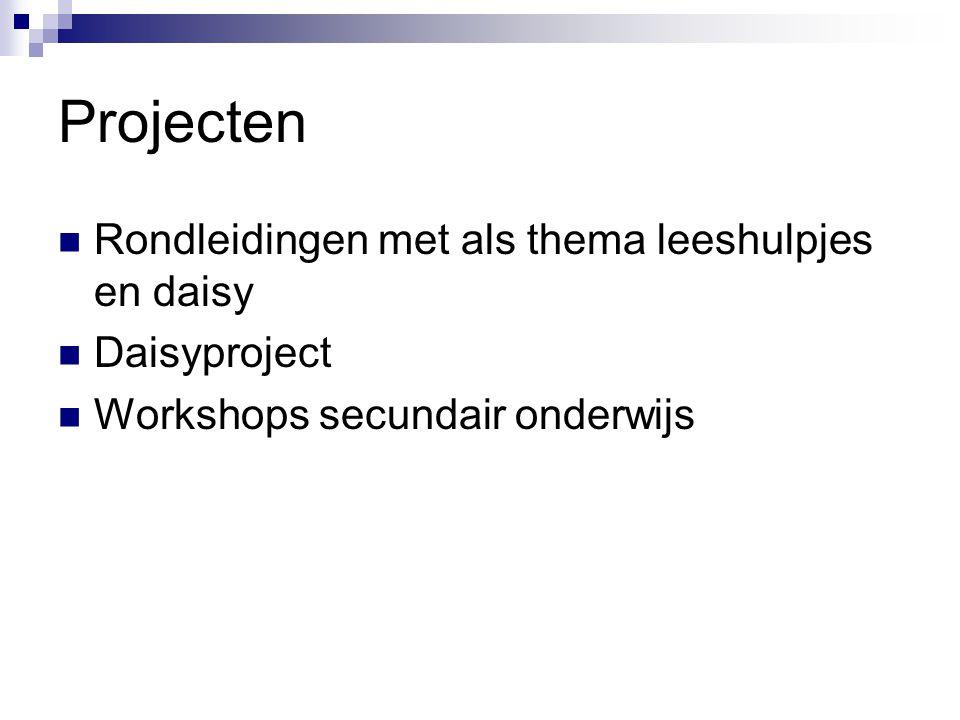 Projecten Rondleidingen met als thema leeshulpjes en daisy