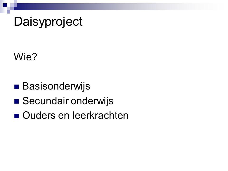 Daisyproject Wie Basisonderwijs Secundair onderwijs