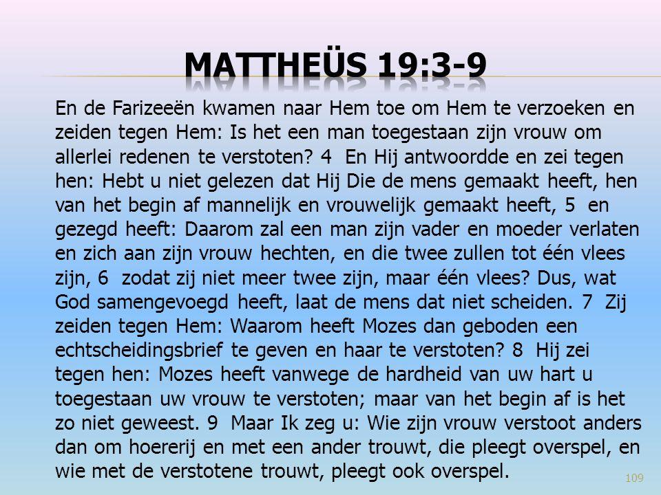 Mattheüs 19:3-9