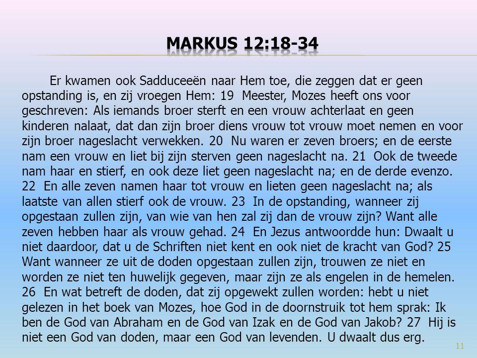 Markus 12:18-34