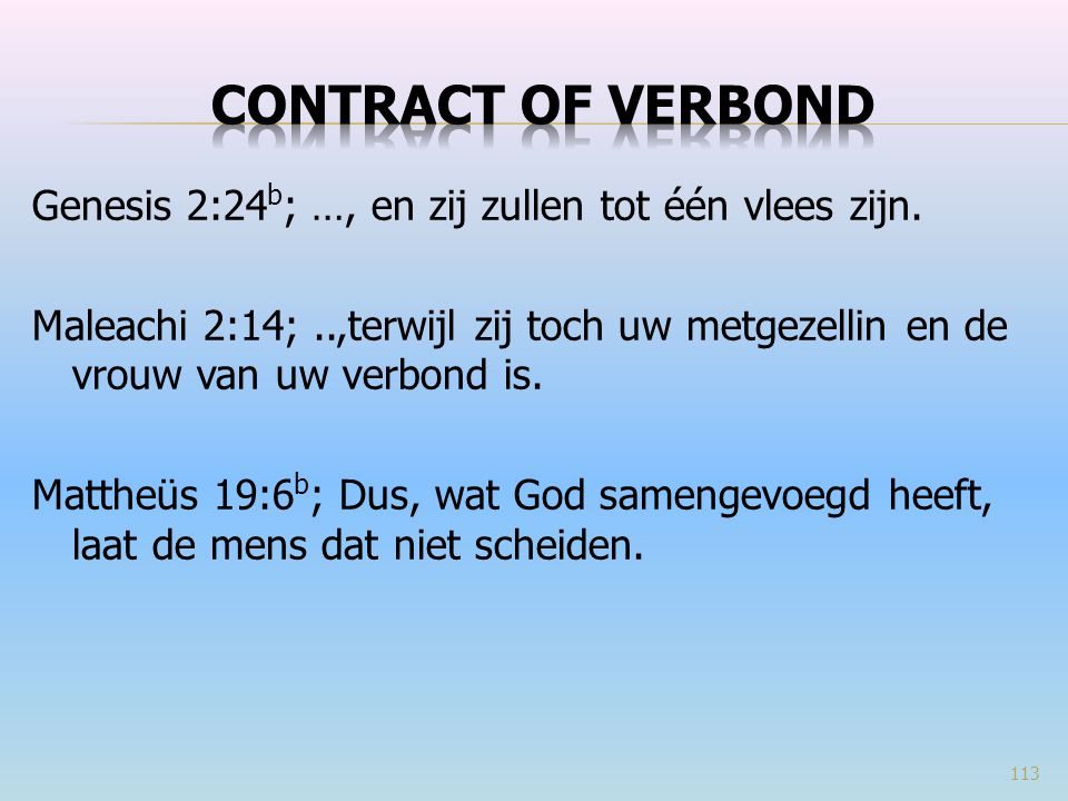 Contract of verbond