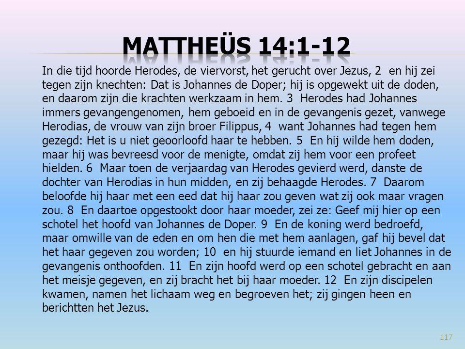 Mattheüs 14:1-12