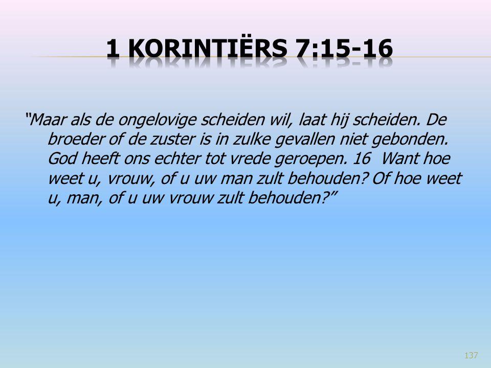 1 Korintiërs 7:15-16