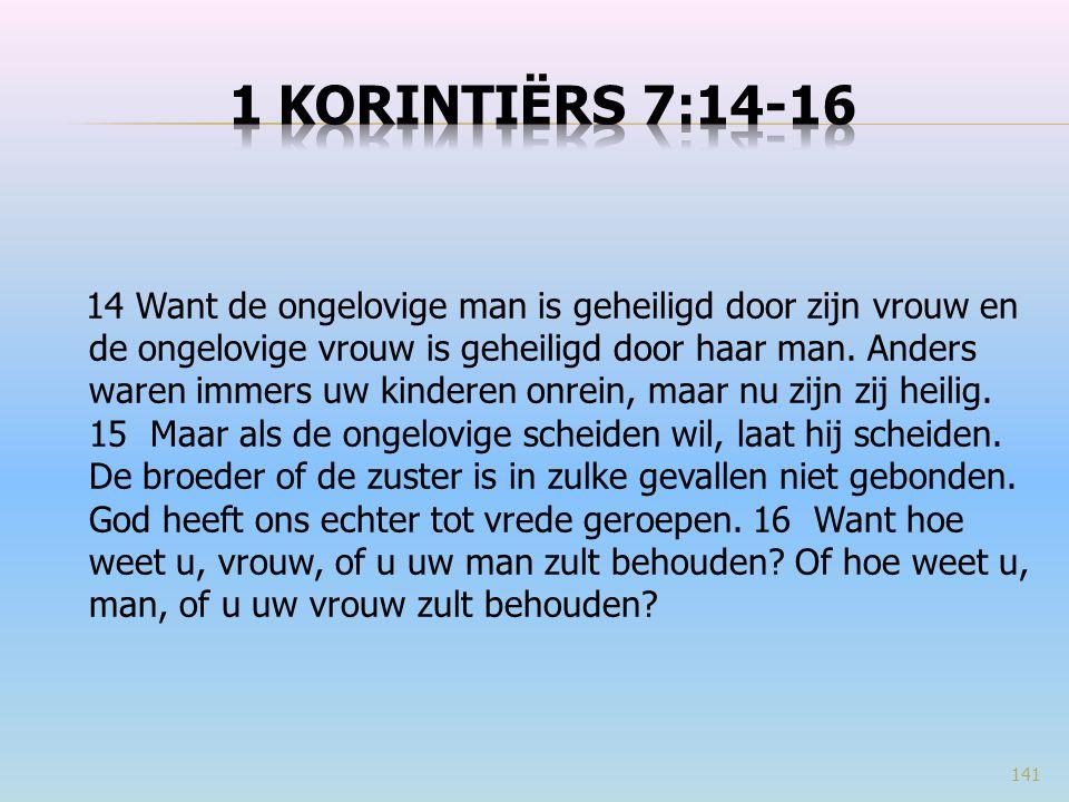 1 Korintiërs 7:14-16