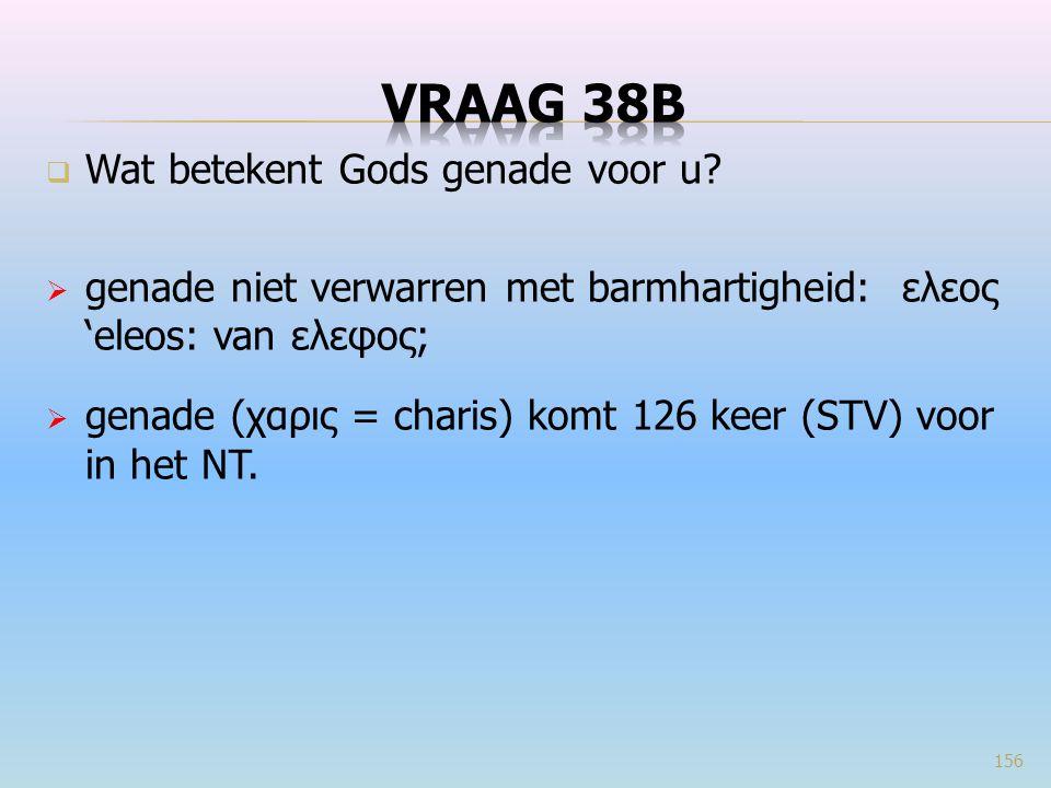 Vraag 38B Wat betekent Gods genade voor u