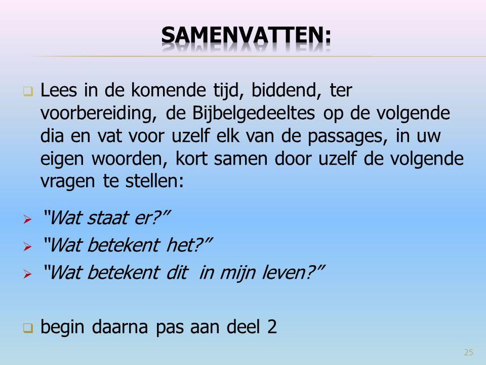 SAMENVATTEN: