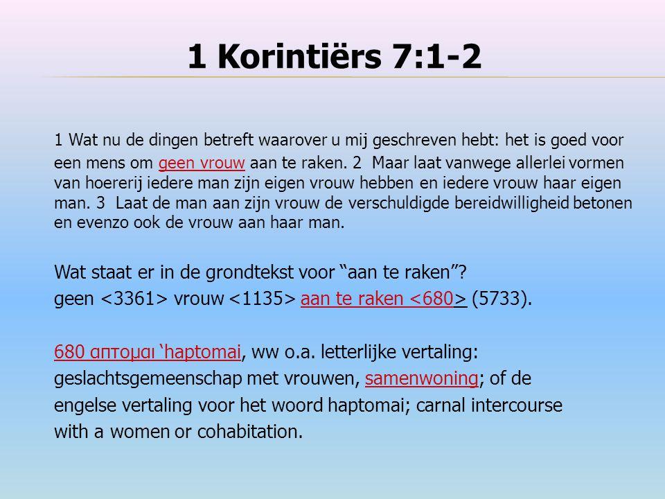 1 Korintiërs 7:1-2