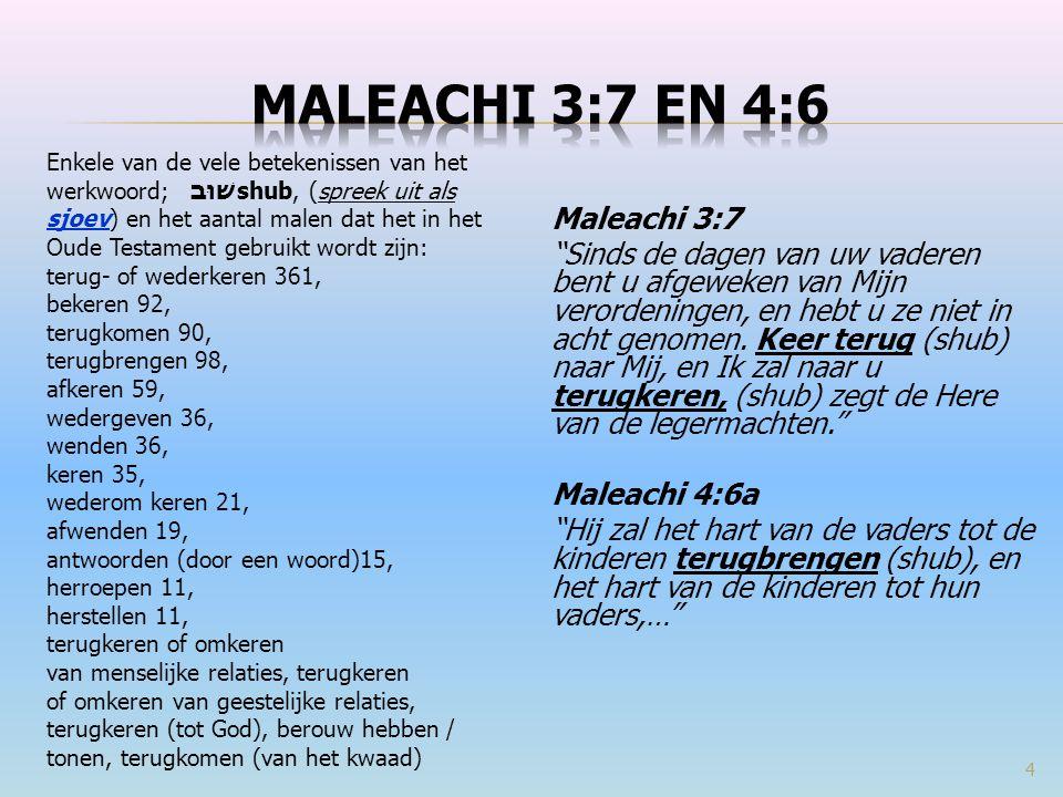 Maleachi 3:7 en 4:6