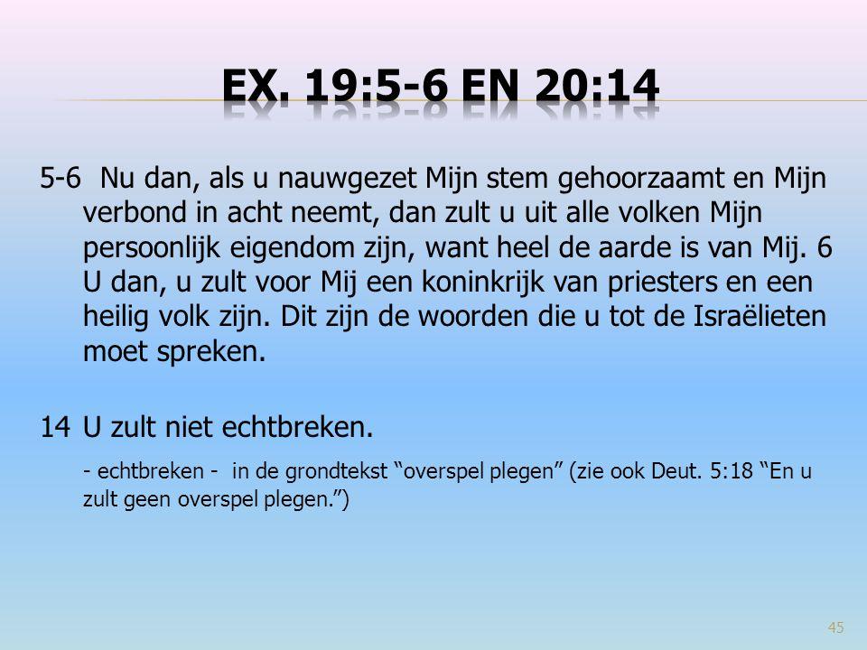 Ex. 19:5-6 en 20:14
