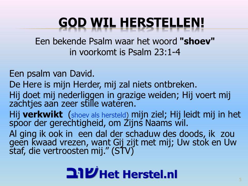 GOD WIL HERSTELLEN!